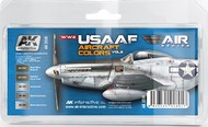 AK Interactive  AK Air Series Air Series: WWII USAAF Aircraft Vol.2 Acrylic Paint Set (5 Colors) AKI2210