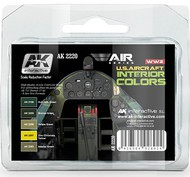 AK Interactive  AK Air Series Air Series: US Aircraft Interior Acrylic Paint Set (5 Colors) AKI2220