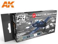 AK Interactive  AK Air Series Air Series: WWII USN & USMC Aircraft Colors Acrylic Paint Set (6 Colors) 17ml Bottles AKI2230