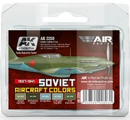 AK Interactive  AK Air Series Air Series: Soviet Aircraft 1937-1941 Acrylic Paint Set (5 Colors) AKI2250