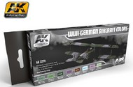 AK Interactive  AK Air Series Air Series: WWI German Aircraft Colors Acrylic Paint Set (8 Colors) 17ml Bottles AKI2270