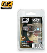 AK Interactive  AK Air Series Air Series: WWI RFC & RNAS Aircraft Colors Acrylic Paint Set (4 Colors) 17ml Bottles AKI2280