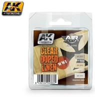 AK Interactive  AK Air Series Air Series: WWI Planes Clear Doped Linen Acrylic Paint Set (3 Colors) 17ml Bottles AKI2290