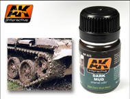 AK Interactive  AK Enamel Dark Mud Enamel Paint 35ml Bottle AKI23