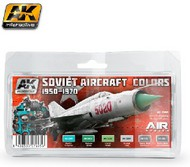 Air Series: Soviet Aircraft Colors 1950-1970 Acrylic/Enamel Paint Set (6 Colors) 17ml & 30ml Bottles #AKI2300