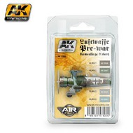 AK Interactive  AK Air Series Air Series: Luftwaffe Pre-War Camouflage Acrylic Paint Set (4 Colors) 17ml Bottles AKI2320