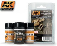 AK Interactive  AK Enamel Wood Weathering Enamel Paint Set (3 Colors) 35ml Bottle AKI260