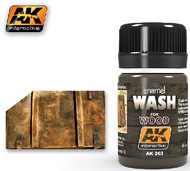 AK Interactive  AK Enamel Wash for Wood Enamel Paint 35ml Bottle AKI263