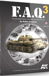 FAQ 3 Modern AFV Painting Techniques Book #AKI288