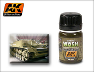 AK Interactive  Washes Dark Yellow Wash Enamel Paint 35ml Bottle AKI300
