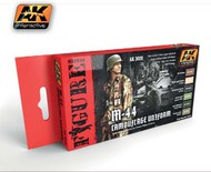 AK Interactive  AK Figure Series Figure Series: M44 Camouflage Uniform Acrylic Paint Set (6 Colors) 17ml Bottles AKI3020