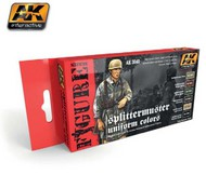 AK Interactive  AK Figure Series Figure Series: Splittermuster Uniforms Acrylic Paint Set (6 Colors) 17ml Bottles AKI3040
