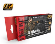 AK Interactive  AK Figure Series Figure Series: Waffen SS Fall/Winter Camouflage Acrylic Paint Set (6 Colors) 17ml Bottles AKI3050