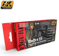 AK Interactive  AK Figure Series Figure Series: Waffen SS Spring/Summer Camouflage Acrylic Paint Set (6 Colors) 17ml Bottles AKI3060