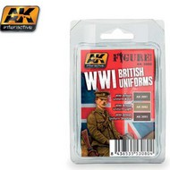 AK Interactive  AK Figure Series Figure Series: WWI British Uniforms Acrylic Paint Set (3 Colors) 17ml Bottles AKI3080