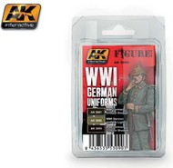 AK Interactive  AK Figure Series Figure Series: WWI German Uniforms Acrylic Paint Set (3 Colors) 17ml Bottles AKI3090