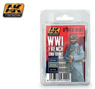 AK Interactive  AK Figure Series Figure Series: WWI French Uniforms Acrylic Paint Set (3 Colors) 17ml Bottles AKI3100
