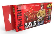 AK Interactive  AK Figure Series Figure Series: Soviet WWII Uniforms Acrylic Paint Set (6 Colors) 17ml Bottles AKI3120