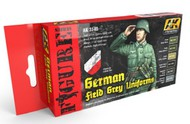 AK Interactive  AK Figure Series Figure Series: German Field Grey Uniforms Acrylic Paint Set (6 Colors) 17ml Bottles AKI3140