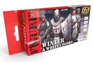AK Interactive  AK Figure Series Figure Series: Winter & White Colors Acrylic Paint Set (6 Colors) 17ml Bottles AKI3160
