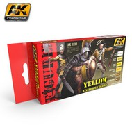 AK Interactive  AK Figure Series Figure Series: Yellow Uniform Colors Acrylic Paint Set (6 Colors) 17ml Bottles AKI3190