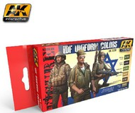 AK Interactive  AK Figure Series Figure Series: IDF Uniform Colors Acrylic Paint Set (6 Colors) 17ml Bottles AKI3230