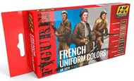 AK Interactive  AK Figure Series Figure Series: French Uniform Colors Acrylic Paint Set (6 Colors) 17ml Bottles AKI3270
