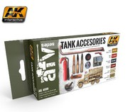 AK Interactive  AK AFV Series AFV Series: Tank Accessories Acrylic Paint Set (6 Colors) 17ml Bottles AKI4000