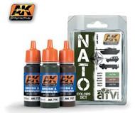 AK Interactive  AK AFV Series AFV Series: NATO AFV Colors Acrylic Paint Set (3 Colors) 17ml Bottles AKI4001