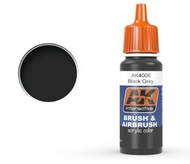 AK Interactive  AK Acrylic Black Grey Acrylic Paint 17ml Bottle AKI4008