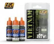 AK Interactive  AK AFV Series AFV Series: Vietnam Colors Acrylic Paint Set (3 Colors) 17ml Bottles AKI4010