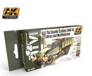 AK Interactive  AK AFV Series AFV Series: British Desert Colors Caunter Scheme 1940-41 Africa & Mediterranean Acrylic Paint Set (6 Colors) 17ml Bottles AKI4030