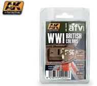 AK Interactive  AK AFV Series AFV Series: WWI British Colors Khaki Brown Modulation Acrylic Paint Set (3 colors) 17ml Bottles AKI4040