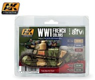 AK Interactive  AK AFV Series AFV Series: WWI French Colors Acrylic Paint Set (5 Colors) 17ml Bottles AKI4050