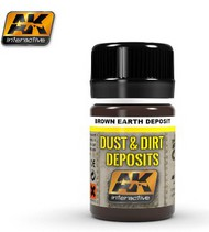 AK Interactive  AK Enamel Dust & Deposit Brown Earth Enamel Paint 35ml Bottle AKI4063
