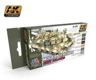 AK Interactive  AK AFV Series AFV Series: Modern French Army Acrylic Paint Set (6 Colors) 17ml Bottles AKI4080