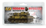 AFV Series: Modern Russian Weathering Set (5 Colors) 35ml/17 Bottles #AKI4160