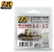 AK Interactive  AK Acrylic Color Combos: German Standard 44-45 Acrylic Paint Set (3 Colors) 17ml Bottles AKI4171