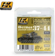 AK Interactive  AK Acrylic Color Combos: German Standard 37-44 Acrylic Paint Set (3 Colors) 17ml Bottles AKI4172