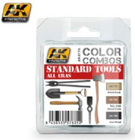 AK Interactive  AK Acrylic Color Combos: Standard Tools All Eras Acrylic Paint Set (3 Colors) 17ml Bottles AKI4174