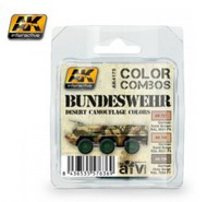 AK Interactive  AK Acrylic Color Combos: Bundeswehr Desert Camouflage Acrylic Paint Set (3 Colors) 17ml Bottles AKI4175