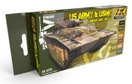 AK Interactive  AK AFV Series AFV Series: US Army & USMC Camouflage Acrylic Paint Set (6 Colors) 17ml Bottles AKI4220