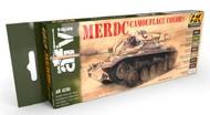 AK Interactive  AK AFV Series AFV Series: MERDC Camouflage Colors Acrylic Paint Set (8 Colors) 17ml Bottles AKI4230