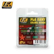 AK Interactive  AK AFV Series AFV Series: PLA Army Colors Add-on Acrylic Paint Set (3 Colors) 17ml Bottles AKI4260