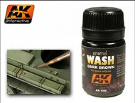 AK Interactive  Washes Dark Brown Wash Enamel Paint 35ml Bottle AKI45