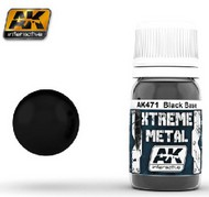 AK Interactive  AK Xtreme Xtreme Metal Black Base 30ml Bottle AKI471