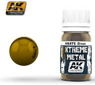AK Interactive  AK Xtreme Xtreme Metal Brass Metallic Paint 30ml Bottle AKI475