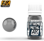 AK Interactive  AK Xtreme Xtreme Metal Dark Aluminum Metallic Paint 30ml Bottle AKI480