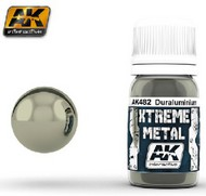 AK Interactive  AK Xtreme Xtreme Metal Duraluminum Metallic Paint 30ml Bottle AKI482
