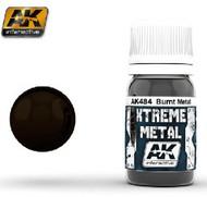 AK Interactive  AK Xtreme Xtreme Metal Burnt Metal Metallic Paint 30ml Bottle AKI484